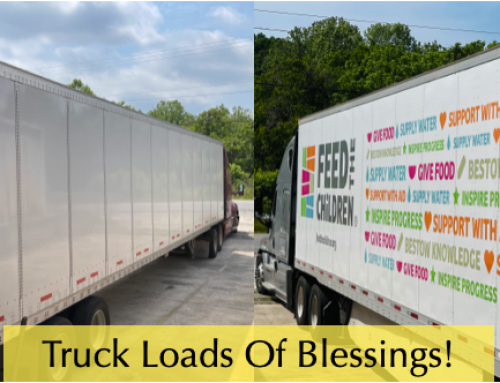 Truck Loads Of Blessings This Week!